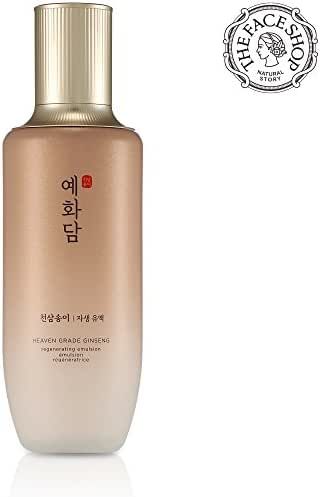 [THEFACESHOP] Yehwadam Heaven Grade Ginseng Regenerating Emulsion Lotion, Premium Skin Care, Traditional Korean Herbs And Ginseng For Anti-Aging Treatment (140mL/4.73 Oz)
