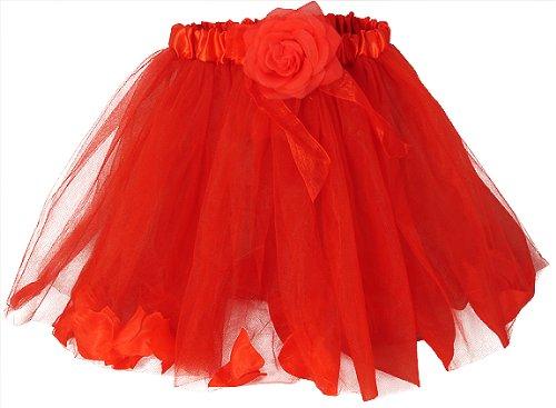 Rose Fairy Tutu with Petals red