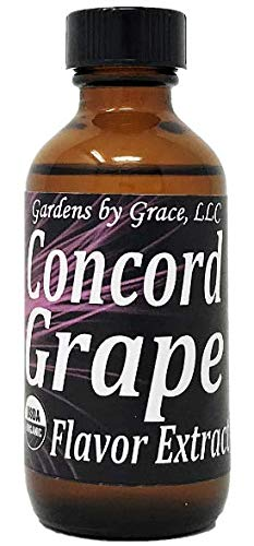 (Organic Flavor Extract Concord Grape | Use in Gourmet Snacks, Candy, Beverages, Baking, Ice Cream, Frosting, Syrup and More | GMO-Free, Vegan, Gluten-Free, 2 oz)
