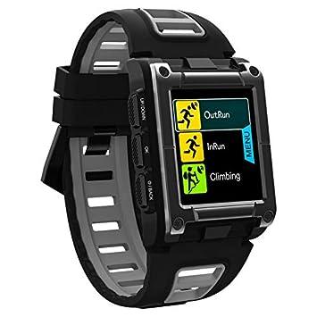 Smart watch Natación Entrenamiento Reloj, Elegante dial de Pantalla Cuadrada, Multi-función de Modo de Fitness de Control de Movimiento, para los Hombres ...