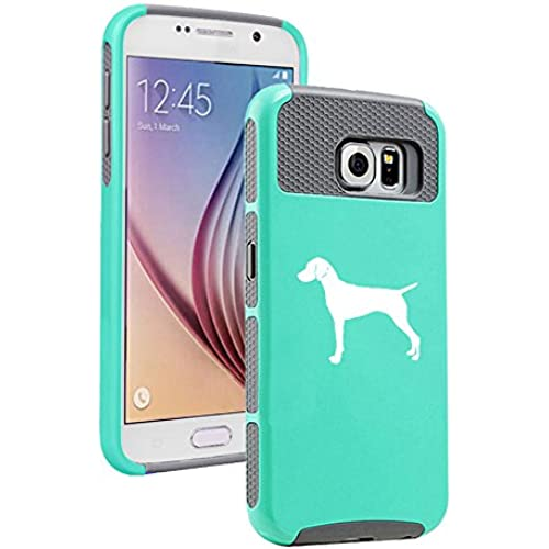 Samsung Galaxy S7 Shockproof Impact Hard Soft Case Cover Vizsla (Teal-Gray) Sales