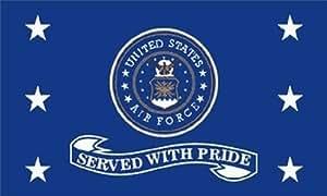 Estados Unidos Premium Store fuerza aérea servido con orgullo bandera 3x 5ft USAF veterano veterinario los jubilados y nosotros Militar EE. UU.