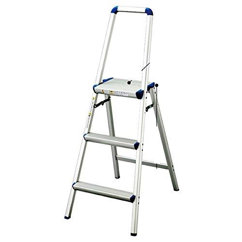 手すり付き踏み台 天板幅広タイプ 3段 H124cm【ストアエキスプレス】 B0152CJ5TW