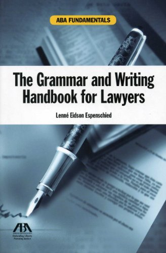 The Grammar and Writing Handbook for Lawyers (Aba Fundamentals) by American Bar Association