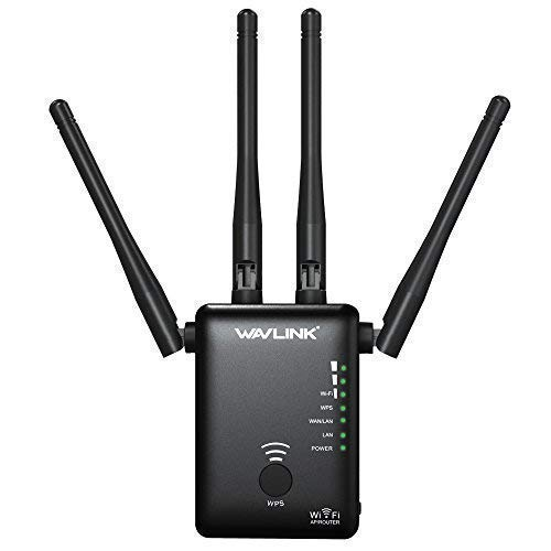 WAVLINK ARIEAL D4 - AC1200 WiFi Extender Dual Band 5Ghz 2.4Ghz 1200Mbps Wireless Router/AP Access Point/Repeater Signal Booster Wi-Fi Amplifier 3 in - Ap Band Wireless Dual