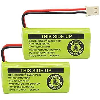 Geilienergy BT183342 BT283342 BT166342 BT266342 BT162342 BT262342 Battery for VTech CS6114 CS6419 CS6719 AT&T EL52300 CL80112 VTech CS6719-2 Cordless Handsets ( Pack Of 2)