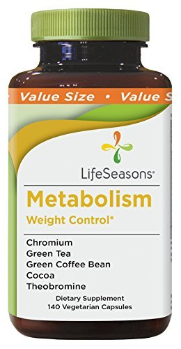 Life Seasons - Metabolism - Weight Control and Energy Booster Supplement - Natural Appetite Suppressant - Mood Enhancement - Contains Chromium and Cocoa Bean Extract - (140 Capsules)