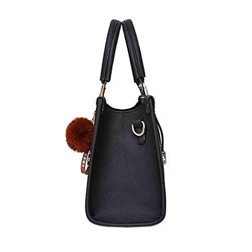 Spalla Nero Borse Uomogo Elegante Tote A Messenger Bag Borsa In Moda Donne Pelle Donna Crossbody WqX6vxqw4