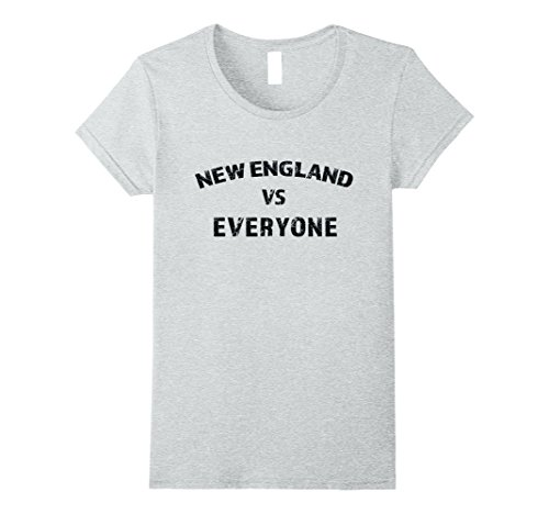Womens New England vs Everyone Trending Distressed T-Shirt Medium Heather - Trending New Fashion