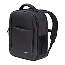 DJI Mavic Pro Backpack, MoKo Waterproof Multi-Purpose Backpack Travel Bag, Large Outdoor Camera Carry Case Storage Bag for DJI Mavic Pro Drone, DSLR, GoPro Action Cameras & More- Black