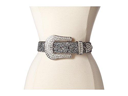 Ariat Women's Clear Crystal Chip Belt,Black,XL