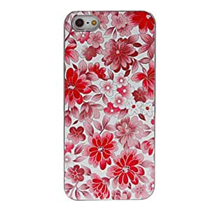 Flowers Pattern Smooth Hard Case for iPhone 5/5S (Assorted Colors) --- COLOR:Purple