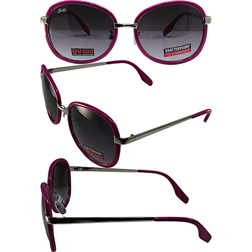 - Pink Rimmed and Chrome with Gradiant Lens