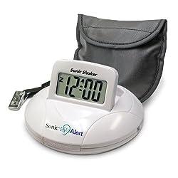 Sonic Alert SBP100 Sonic Boom Portable Vibrating Alarm Clock NEW FREE SHIPPING