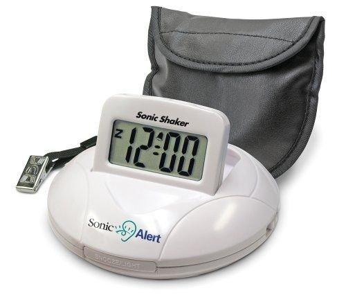 Sonic Alert SBP100 Sonic Boom Portable Vibrating Alarm Clock NEW FREE SHIPPING (Boom Alarm Clock Sonic)