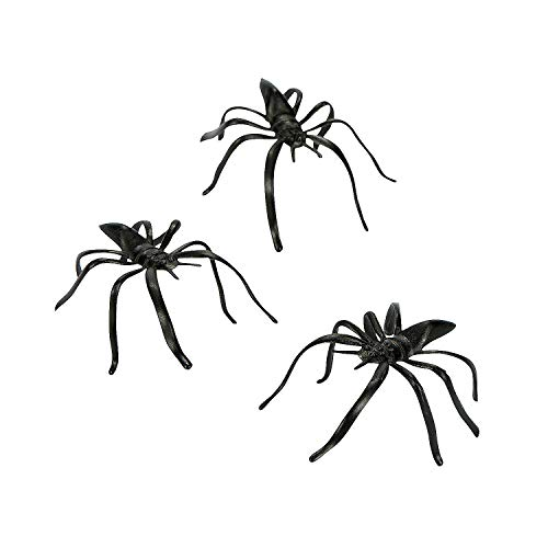 Fun Express Plastic Halloween Spiders Party Favor - 144 Pieces ()