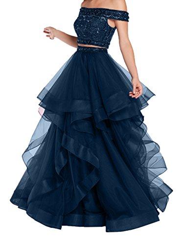 Ballkleider Charmant Neu Quincenera Pailletten Linie A Blau Kleider Prinzess Promkleider Damen 2018 Navy Abendkleider Damen Hochwertig F8pwFcqB