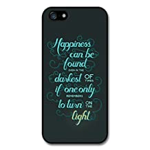 Happiness Can Be Found Harry Potter Light Quote case for iPhone 5 5S