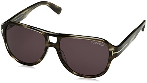 TOM FORD Men's Dylan TF446 20A grey Gray Aviator Sunglasses - Sunglasses Toms Men
