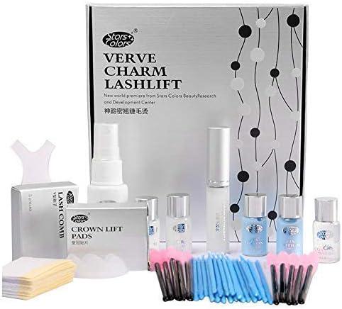 Kit de Permanente de Pestañas, Eyelash Perm Liquid Eyelash Wave - Herramientas de Maquillaje Curling de Pestañas, Lash Lift Long Lasting, Duradero y Natural (Juego de 11 piezas)