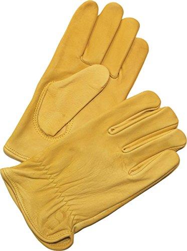 Bellingham C2353M Premium Cowhide Driver Gloves, Top Grain Golden Leather, Women's Medium ()