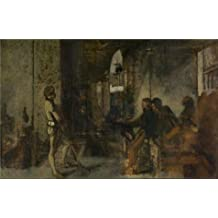 Oil painting 'Henri Leys - The Guard,19th century' printing on high quality polyster Canvas , 12x19 inch / 30x48 cm ,the best Living Room decor and Home artwork and Gifts is this Amazing Art Decorative Canvas Prints