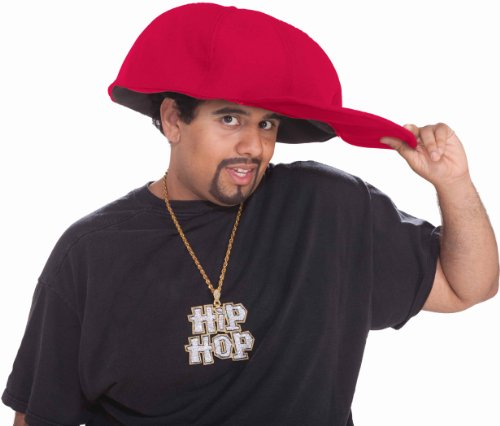[Jumbo Hip Hop Hat Red Adult (As Shown;One Size)] (Jumbo Hip Hop Adult Hat)