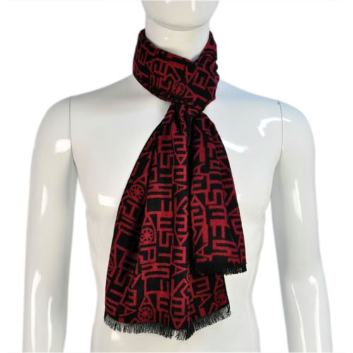 NL-1840A 100/%viscose Mens Plaid Scarf with Tassels,nl-1840,2 Colors