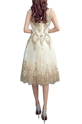 La_mia Braut Wadenlang Kurzes Spitze Abendkleider Brautmutterkleider Jugendweihkleider Festlichkleider A-linie Neu Tuerkis hWUL0