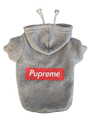 Pupreme Box Logo Dog Hoodie (Small) by Pupreme