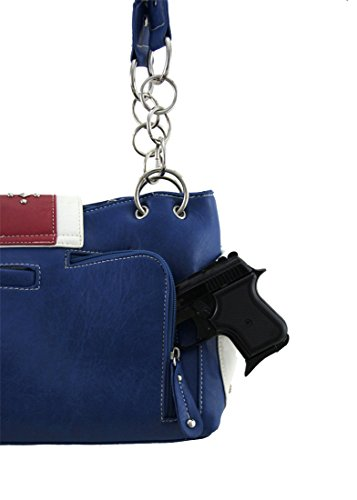 Zeckos BOT5 846-BLUE/RED, Borsa a spalla donna Red Taglia unica