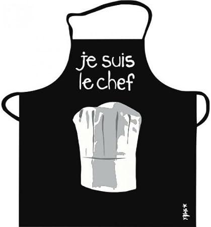 Tablier De Cuisine Noir Je Suis Le Chef Pvc Amazon Fr Cuisine