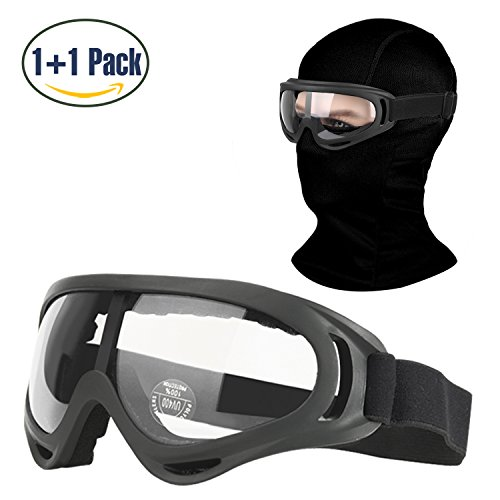 COOLOO Balaclava & Ski Goggles Sets, Ultralight Balaclava Fa