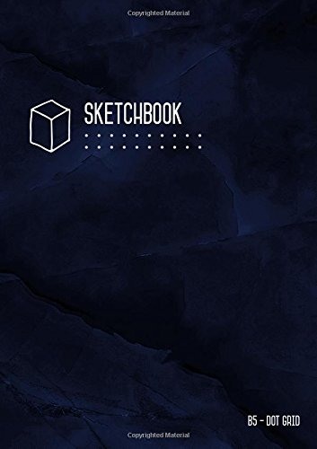 Download Dot Grid Sketchbook B5: Marble Blue Black, Smart Design, Medium, Soft Cover, Number Pages, Dotted Notebook for Drawing and Doodling (Medium Professional Sketchbooks) pdf