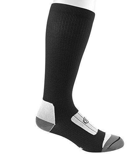 12 Inch Compression Socks (Large, Black)