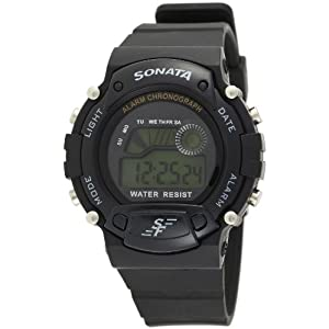 Sonata Digital Grey Dial Men's Watch -NL7982PP03