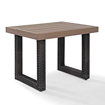 Pleasing Amazon Com Patio Side Table 20 Inch Plastic Resin Outdoor Dailytribune Chair Design For Home Dailytribuneorg