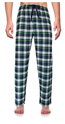 RK Classical Sleepwear Men's 100% Cotton Flannel Pajama Pants, Size XXX-Large (Big Mens Fleece Pajama Pants)