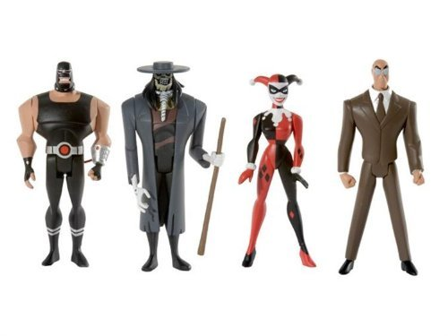 (Justice League DC Universe Unlimited Exclusive Action Figure 4-Pack Gotham City Criminals (Clock King, Harley Quinn, Bane and Scarecrow))