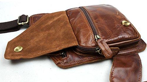 Para Hombro Messenger Piel De Bag Insum Marrón Hombre Retro qwXtSPHp