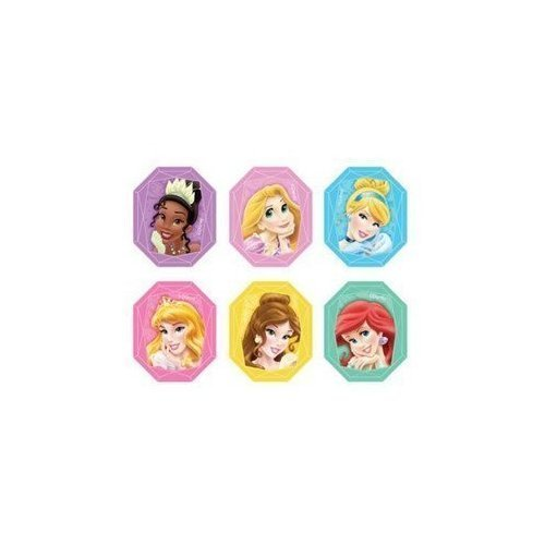 Disney Princess Gemstone Cupcake Rings Party Favors - 24 pcs (1 Pack) by DecoPac