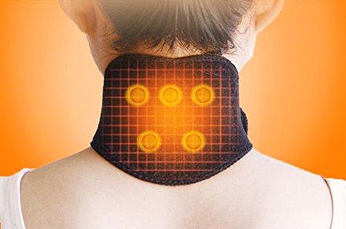 (2 Pack Tourmaline Magnetic Therapy Thermal Self-Heating Neck Pad Massager Belt Neck Support Brace Massager Cervical Vertebra Protection)