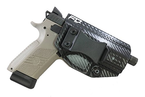 Fierce Defender IWB Kydex Holster CZ P-07 Winter Warrior Series (Carbon Fiber) (Cars In Fast And Furious 7 With Names)