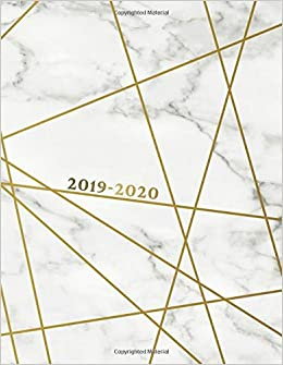 Amazon.com: 2019-2020: Marble & Gold Academic Planner 2019 ...