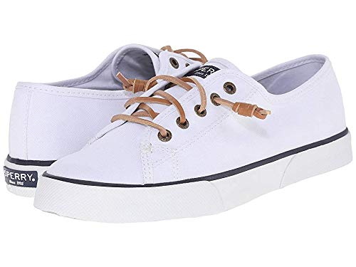 Sperry Womens Pier View Sneaker, White, 8.5