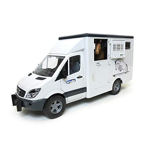 Bruder MB Sprinter Animal Transporter Including 1 Horse