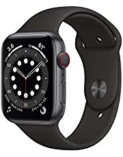 AppleWatch Series 6 (GPS + Cellular, 44mm) - Space Gray Aluminum Case with Black Sport Band