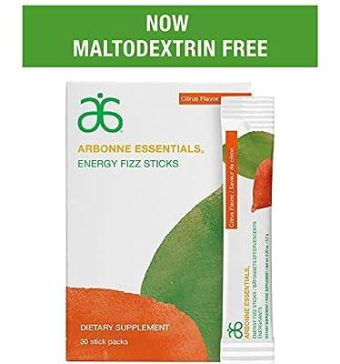 Arbonne Citrus Fizzy Sticks Energy Drink, Box of 30