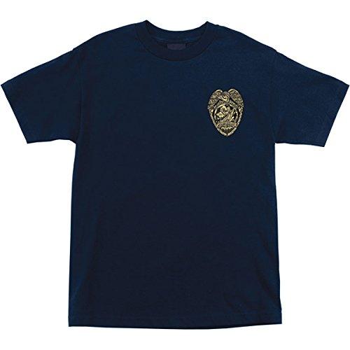 Santa Cruz Mens OGSC Badge Regular Short-Sleeve Shirt X-Large Navy
