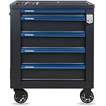 .com: roller cart tool cabinet storage chest box glossy black ...